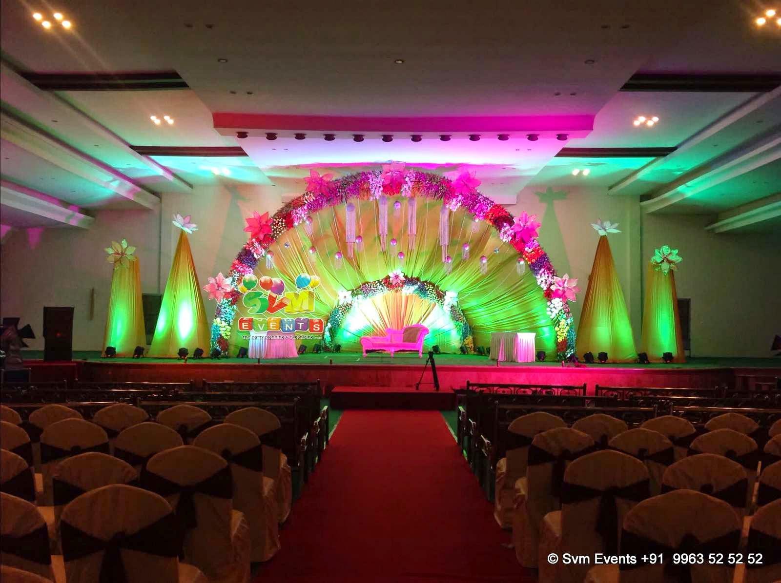 Svm Events Wedding Reception Flower Decoration Kvr Garden Medchal