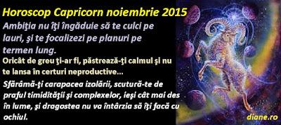 Horoscop Capricorn noiembrie 2015