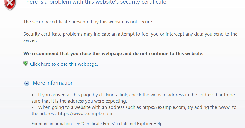 Clint Boessen\'s Blog: The security certificate presented by this ...