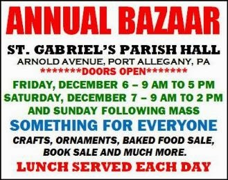 12-8 Annual Bazaar After Mass