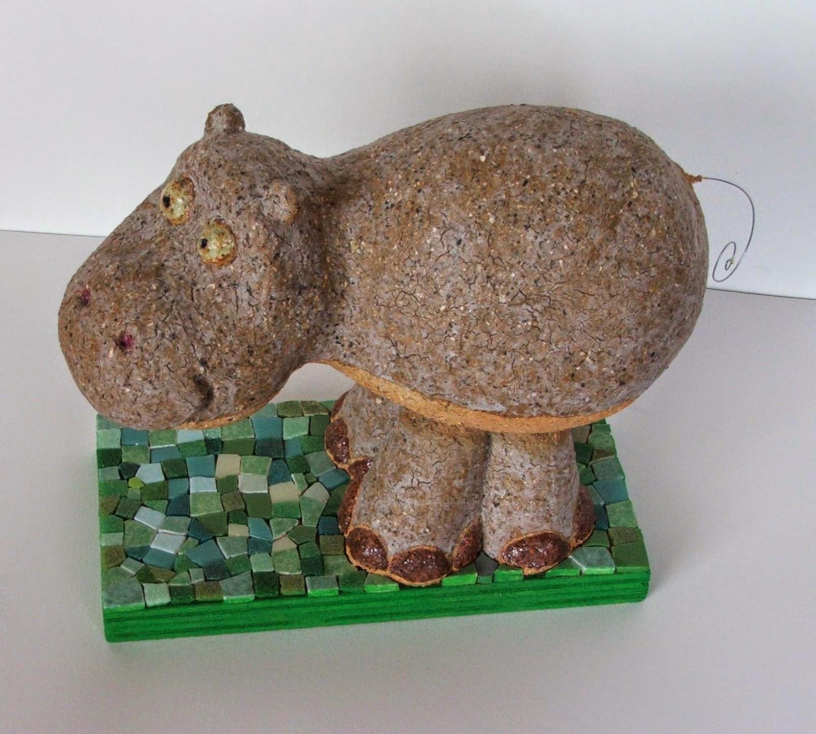 sculpture création terre cuite et mosaîque sur commande par mosaïste professionnel mimi vermicelle