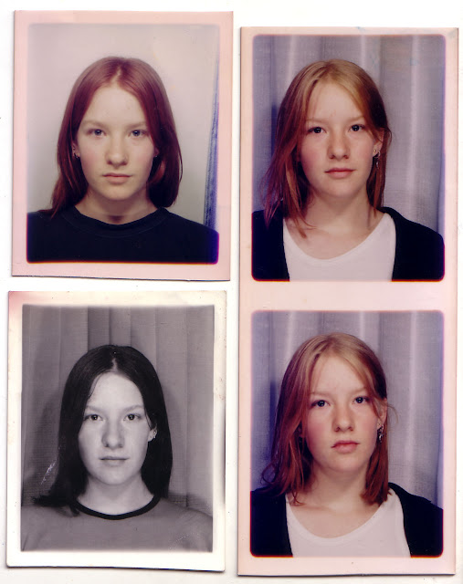 90's passport photos