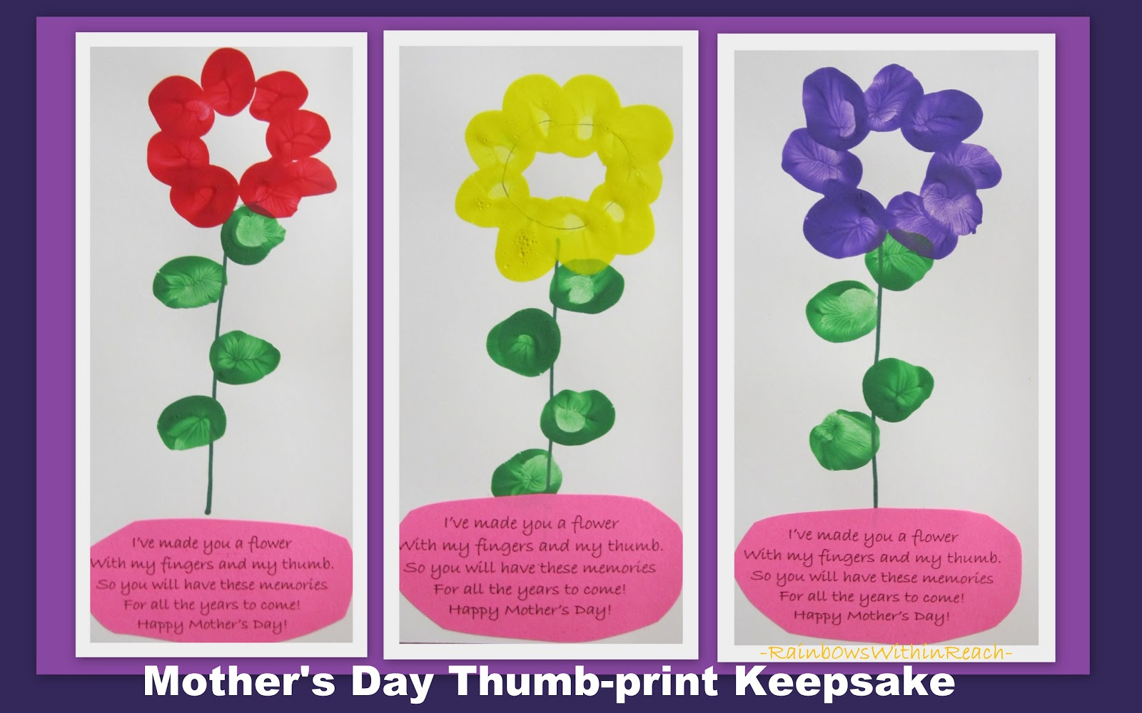 for Mothers day cards from preschoolers
