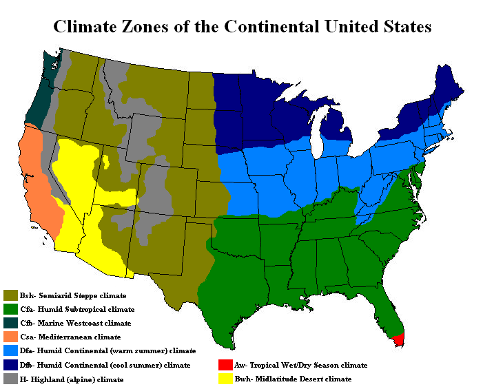 The old spanish trail documentation project climate physiography us climate regions sciox Choice Image