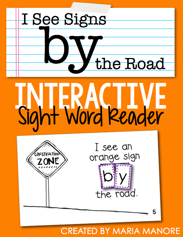 "emergent reader for sight word ""BY"""