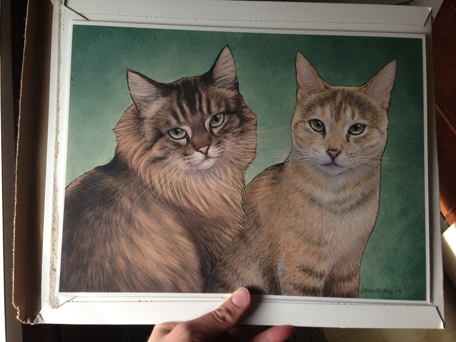 Scrapbook ideas niagara falls - Jenny Parks Created A Relatively Accurate Portrait Of Oatmeal And Button Omelet The One Thing That She Was Not Aware Of In The Sample Photographs I Sent