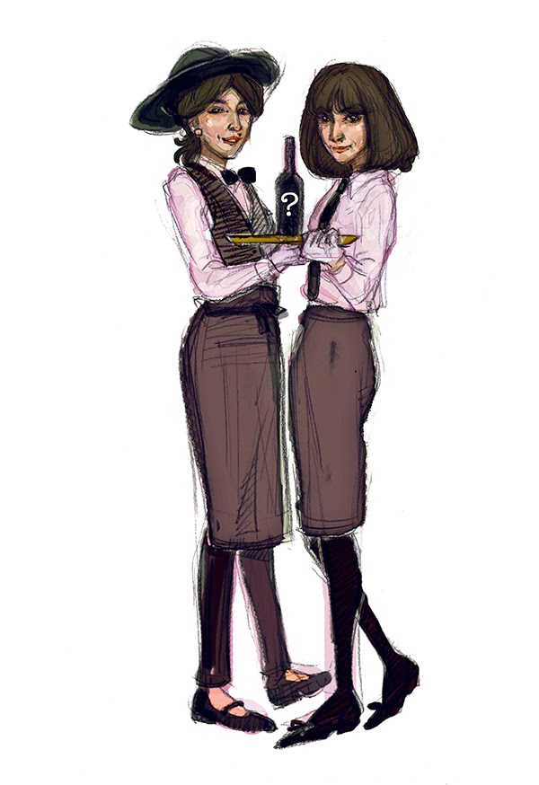 Kate & Anna McGarrigle illustration