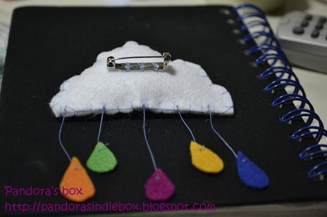 Handmade felt brooch