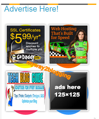 Advertise Here Widget