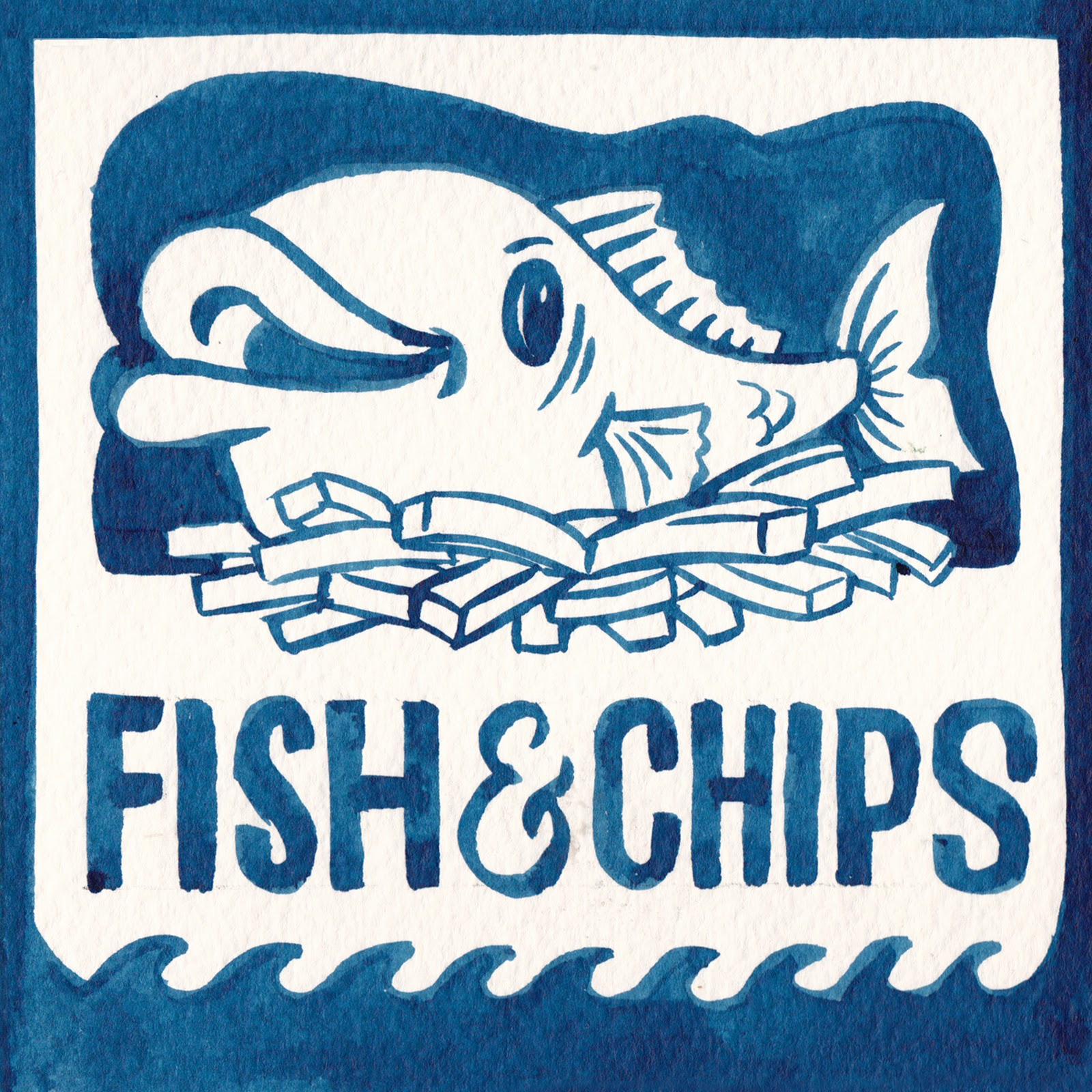 Fish and Chips Logo http://petergander.blogspot.com/2012/01/fish-chips.html