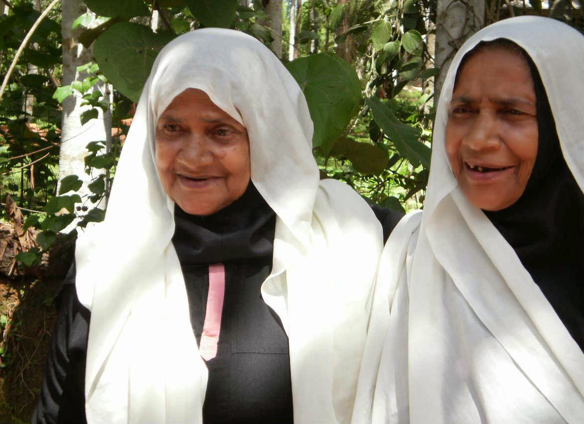 One of the elderly twins in Kondinhi