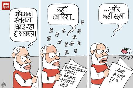 gujrat elections, narendra modi cartoon, bjp cartoon, cartoons on politics, indian political cartoon, Chennai flood
