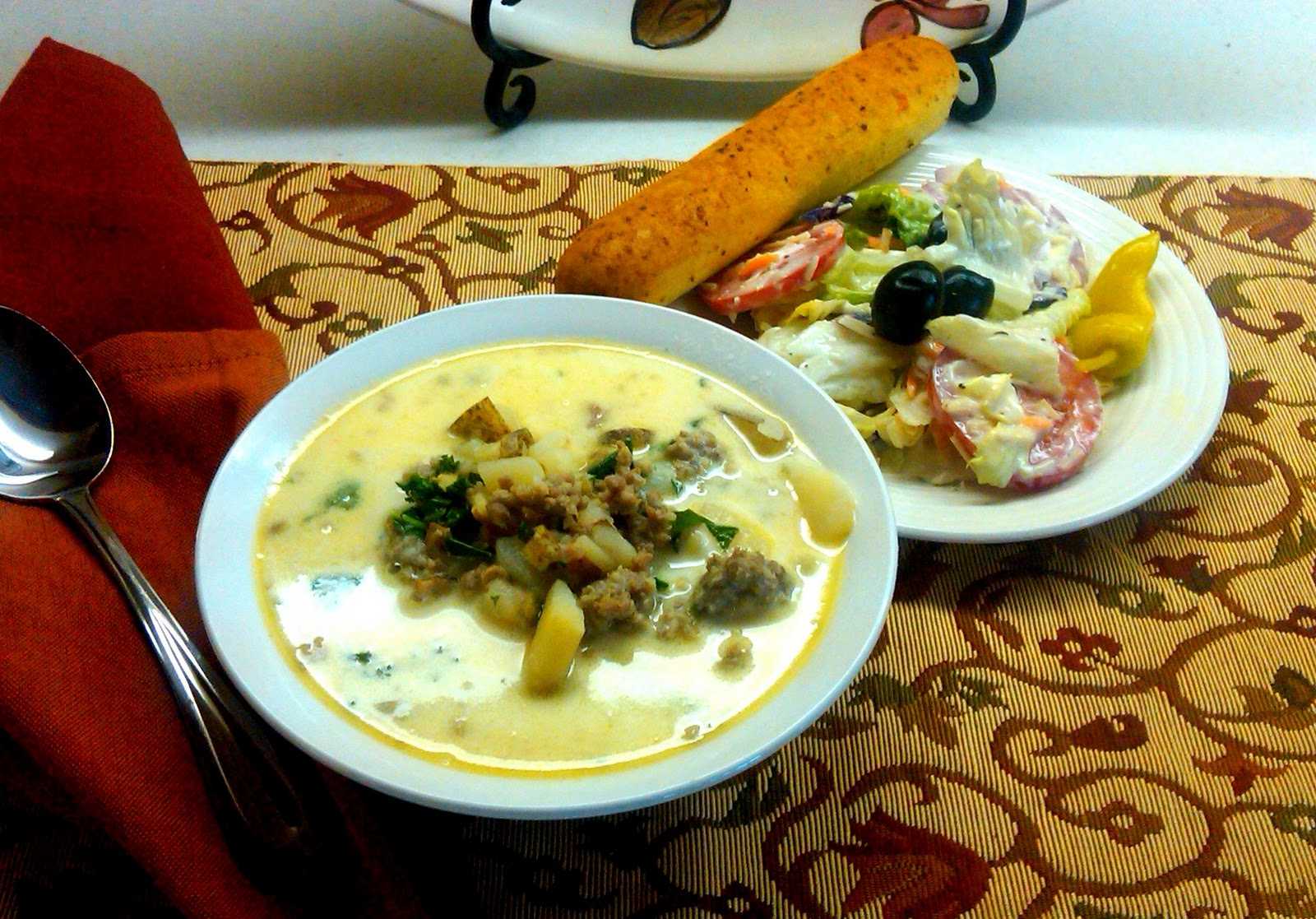 ... Night at Home! Copy Cat: Zuppa Toscana, Olive Garden Salad & Dressing