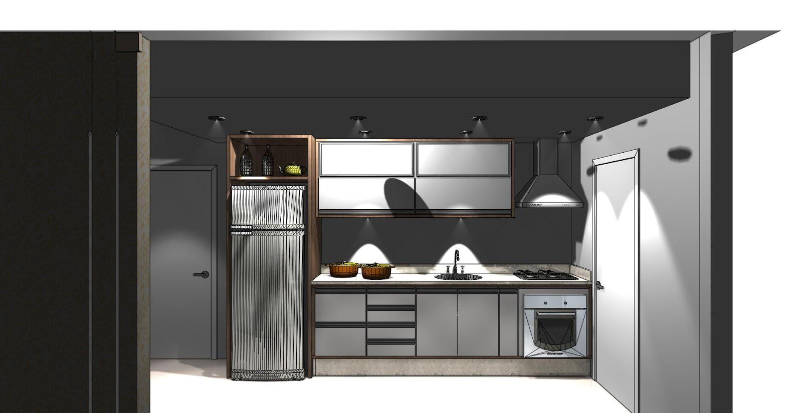 PROJETO APÊ DOS SONHOS!: Projeto cozinha #5F4C3B 1600 825