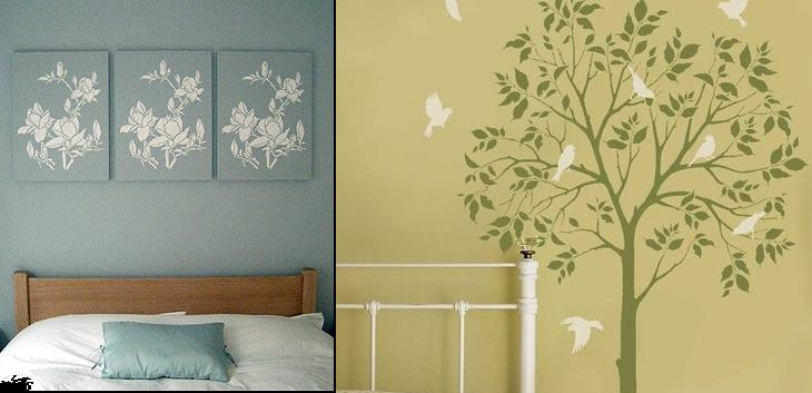 Home Decor Wall Paint Stencils : Wall decor for october