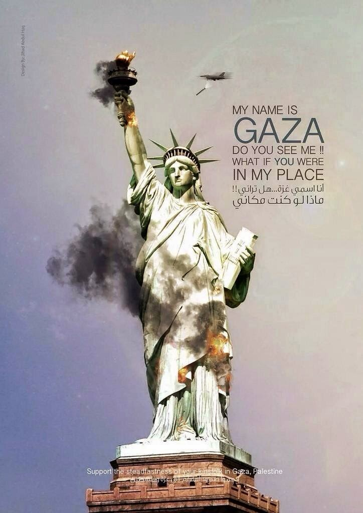 Not supporting liberty in Gaza