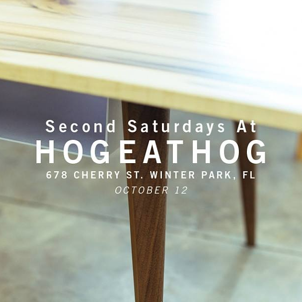 2nd Saturday Poets 2: Hog Eat Hog Furniture Makers Second Saturday Open House TODAY
