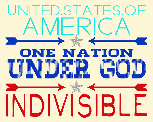 one nation indivisible One nation, indivisible the pledge of allegiance was drafted in two hours on a sweltering august night in 1892.