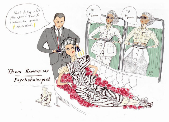 Kitty N. Wong / Thom Browne Asylum SS14 fashion comic