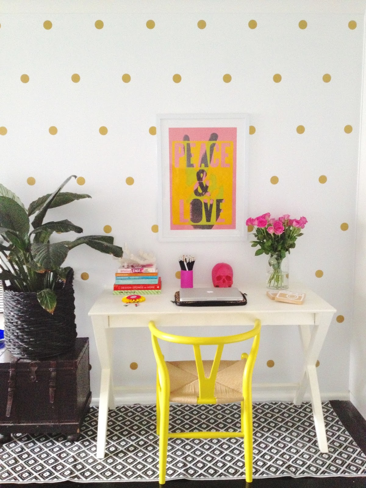 Honey And Fizz Polka Dot Wall Stickers - How to put a decal on my wall