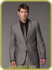 Grey suit fashion