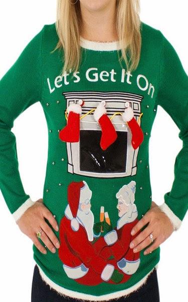 Women's Let's Get It on Sweater in Green By Festified