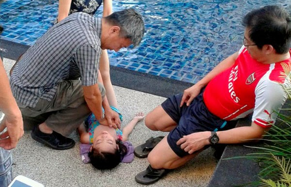 Budak perempuan 6 tahun kritikal jatuh kolam renang