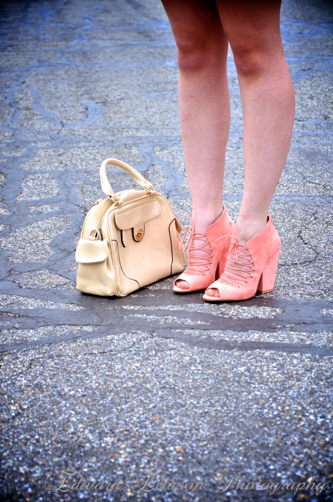ankle booties, bag, booties, kohls dress, lime lush, lime lush boutique, lime lush boutique heels, persun mall, pink outfit, pink outfit with bags, pink outfit with heels, pretty outfit, purse,