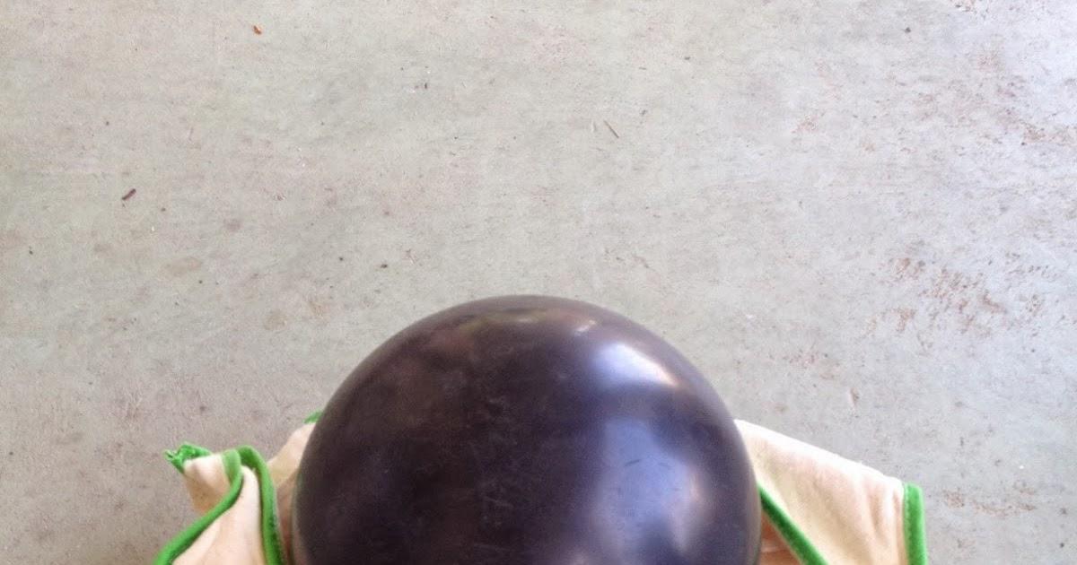 Bowling Ball Turned into a Garden Gazing Ball