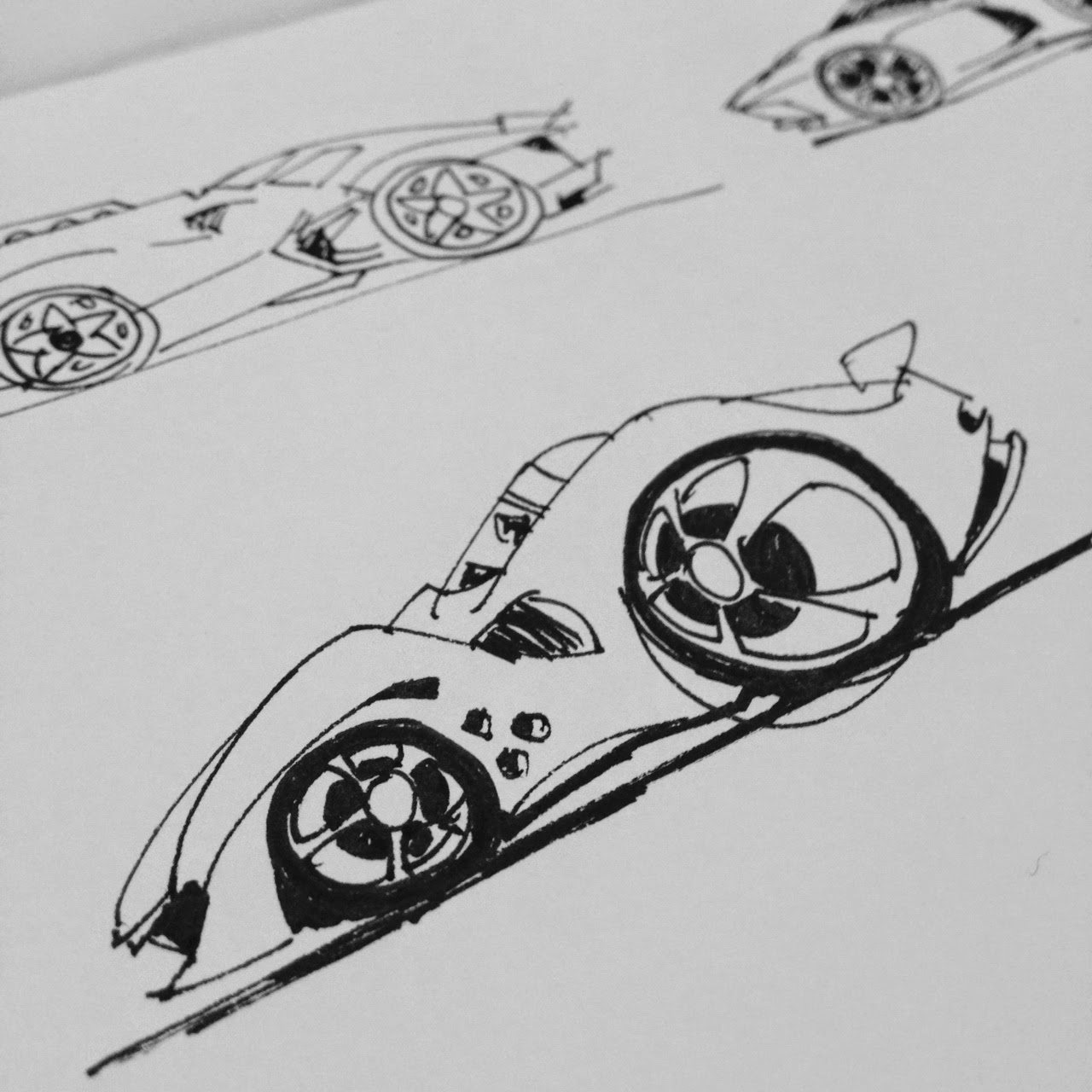 WeirdSketchBlog: Cars and one point perspective interior sketches