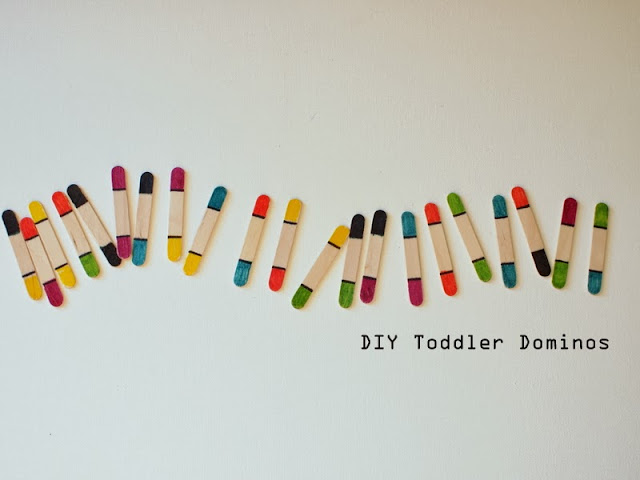 super easy popsicle stick toddler dominos