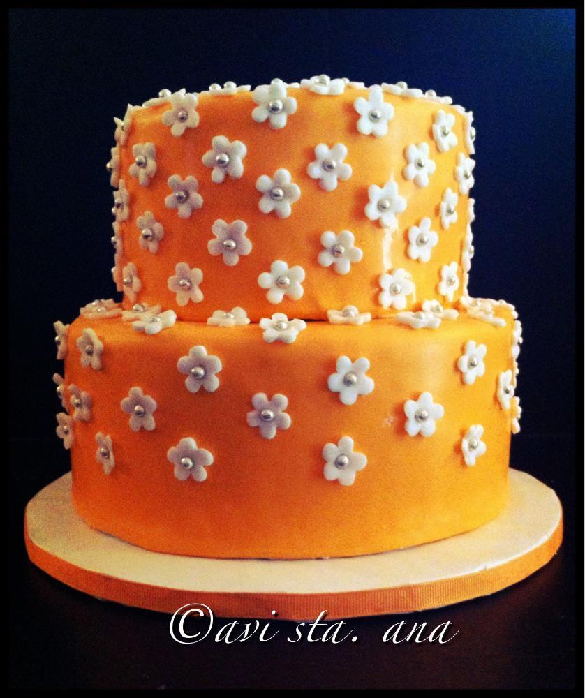 Orange Birthday Cake Orange And Yellow Birthday Cake Chef Cipriano