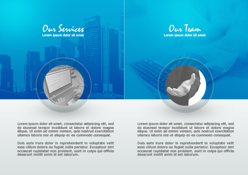Create Bi-Fold Business Brochure In Photoshop
