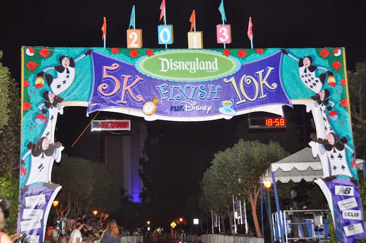 2013 Disneyland 5K and 10K Finish Line