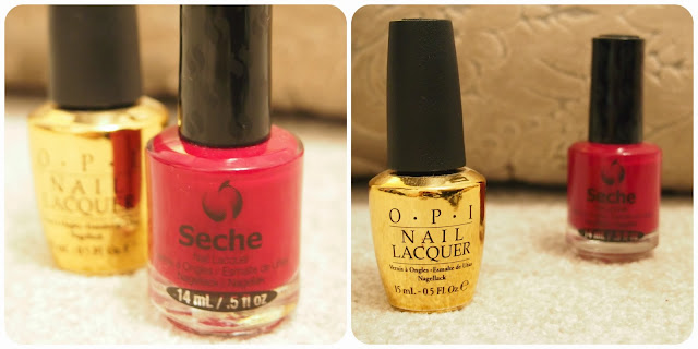 Seche Vite 'Irresistible' and OPI 'Man With The Golden Gun'