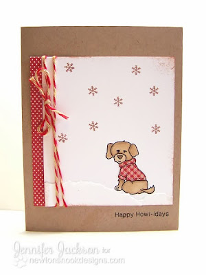 Happy Howl-idays Dog Card card using Canine Christmas by Newton's Nook Designs