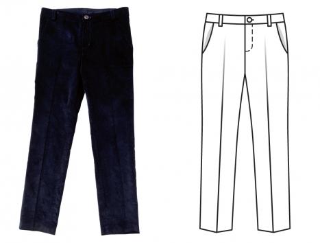 erkek çocuk pantolon kalıbı