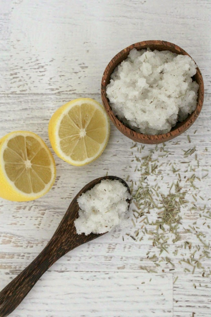 Homemade Salt Scrub