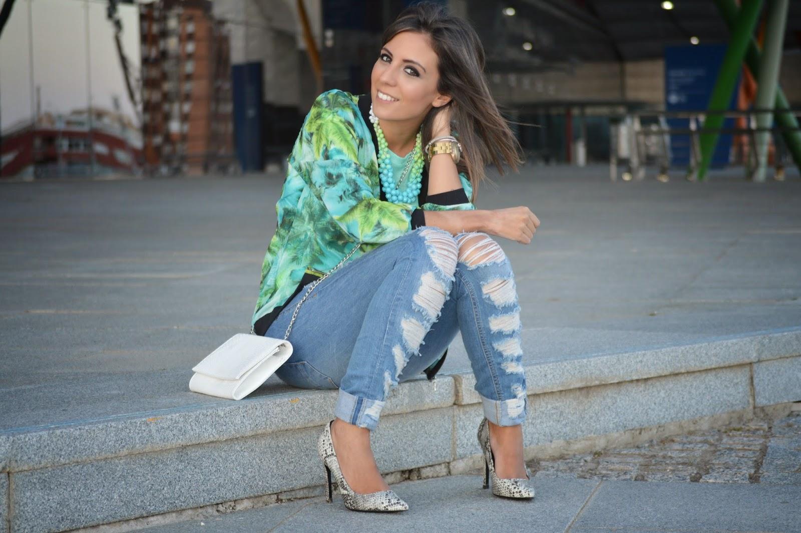 street style style ootd cristina style blogger malagueña fashion blogger malagueña chic casual bomber outfit look stradivarius lefites mango parfois gorgeous lovely moda mood