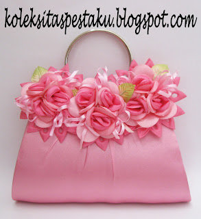 Tas Pesta Clutch Bag Pink Ayu Cantik Mewah Elegant Genit