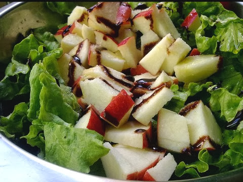 Apple Salad with Balsamic Cream