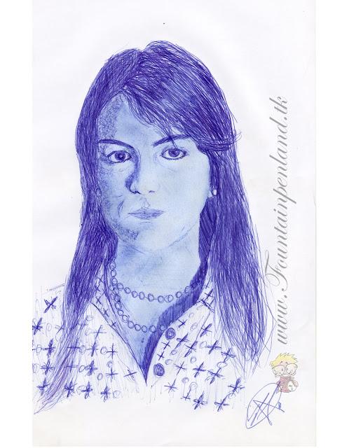 Retrato a Boligrafo de Ana