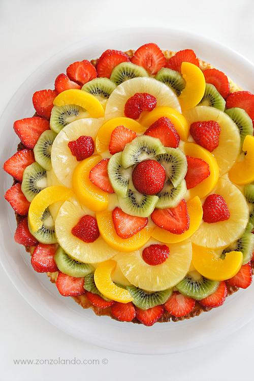 crostata alla frutta e il 1 zonzocompleanno zonzolando