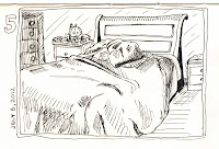 EDM 5 - Draw your bed. Original Pen and Ink by Ana Tirolese ©2012