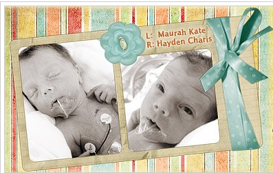 To See Our Twins' NICU Journey, Click on This Photo
