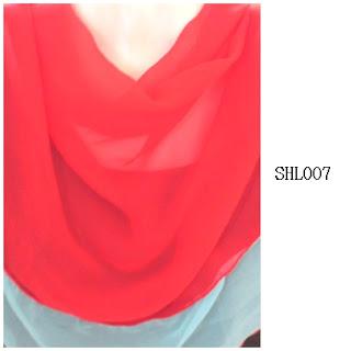 shawl halfmoon 2 layer merah