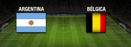 resultado final Argentina vs Belgica cuartos de final