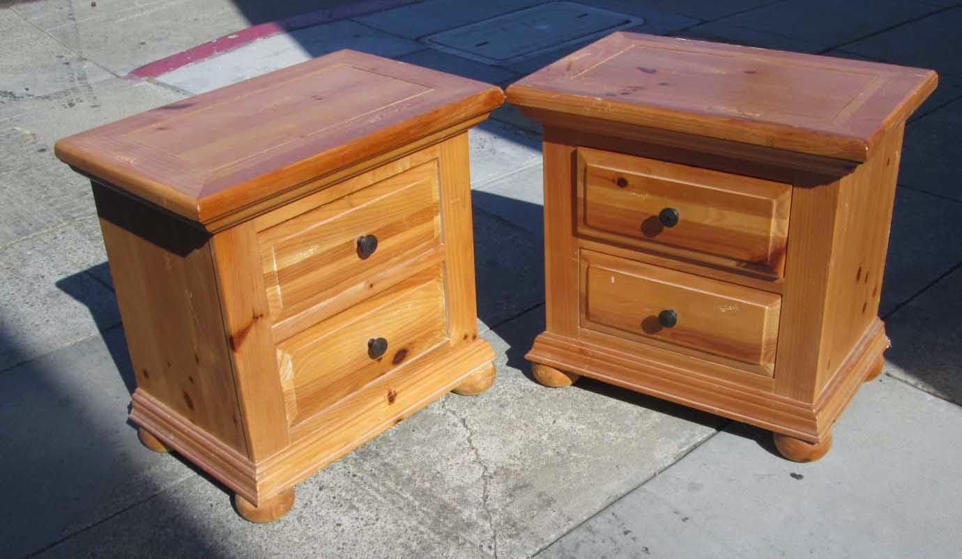 SOLD Pair Of Knotty Pine Night Stands   $70
