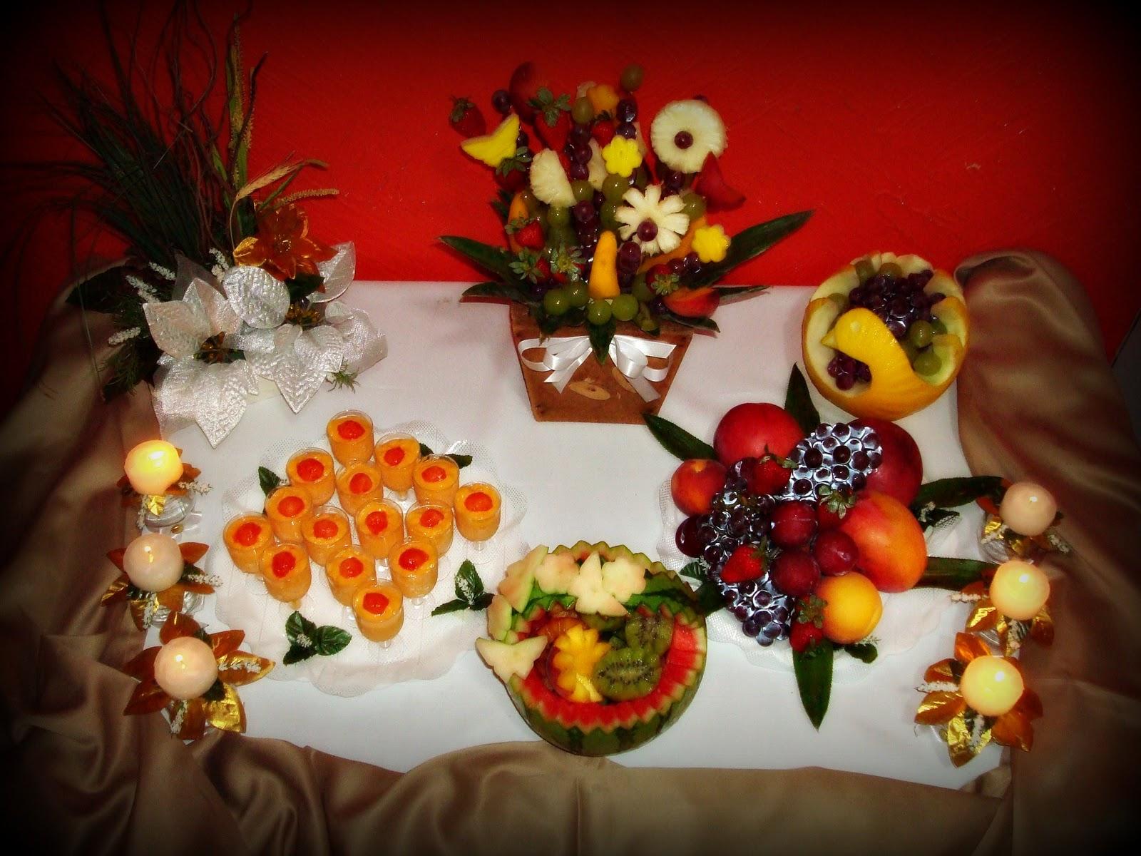 Graças&Mimos Mesa de Frutas Reveillon -> Decoração De Frutas Para Mesa