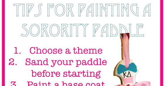 Prep in your step tips for painting a sorority paddle pronofoot35fo Choice Image